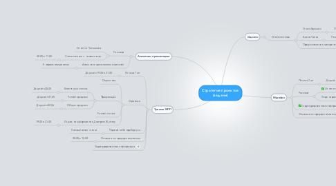 Mind Map: Стратегия проектов (задачи)