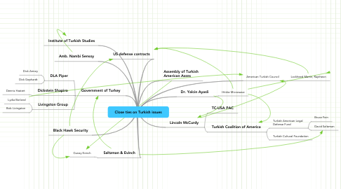Mind Map: Close ties on Turkish issues
