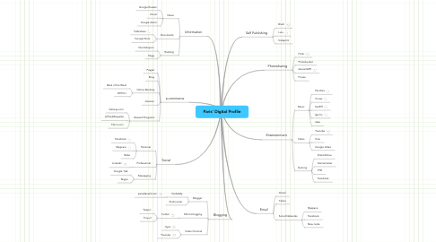 Mind Map: Paris' Digital Profile