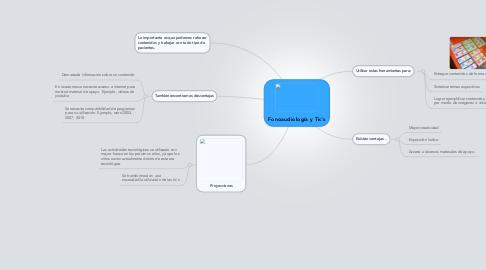 Mind Map: Fonoaudiología y Tic`s