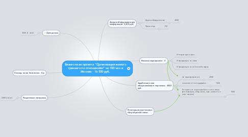 "Mind Map: Бизнес-план проекта ""Организация живого тренинга по отношениям"" на 100 чел в Москве - 16 550 руб."