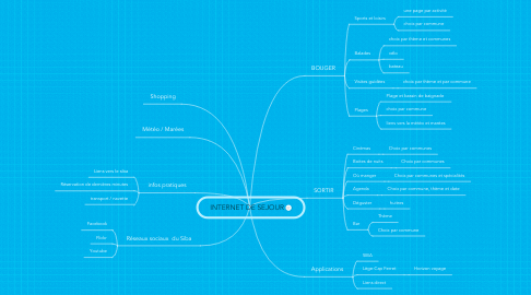Mind Map: INTERNET DE SEJOUR