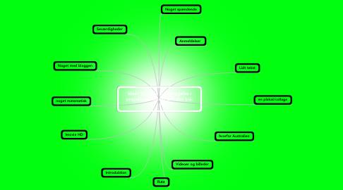 Mind Map: Ideér til vores fremlæggelse i projekt om emnet ud i det blå. :)