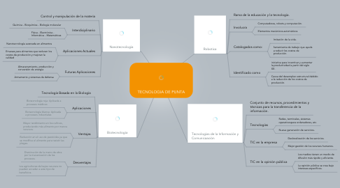 Mind Map: TECNOLOGIA DE PUNTA