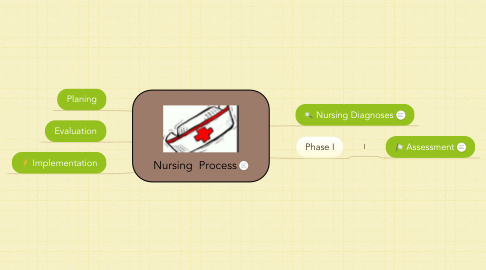 Mind Map: Nursing  Process