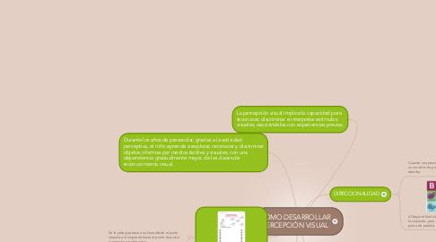 Mind Map: COMO DESARROLLAR PERCEPCIÓN VISUAL