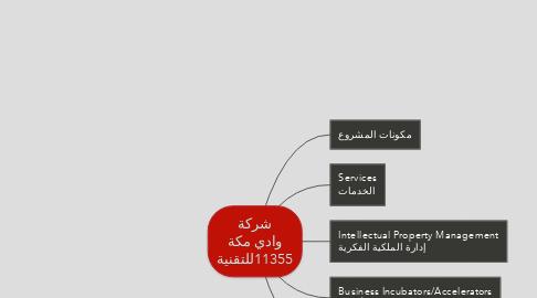 Mind Map: شركة وادي مكة للتقنية