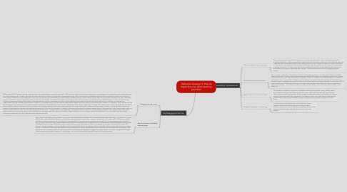 Mind Map: Reflection Question 4: How do digital literacies affect teaching practices?