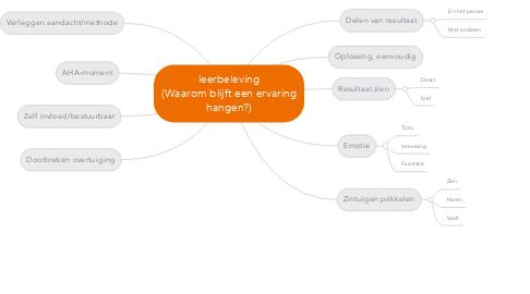 Mind Map: leerbeleving (Waarom blijft een ervaring hangen?)