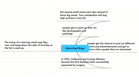 Mind Map: Subscribed Blogs