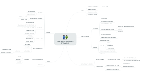 Mind Map: FUNDAMENTAL GROUP DYNAMICS