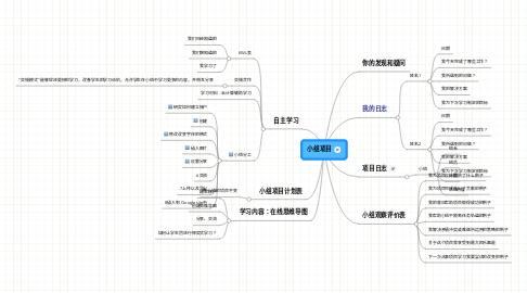 Mind Map: 小组项目