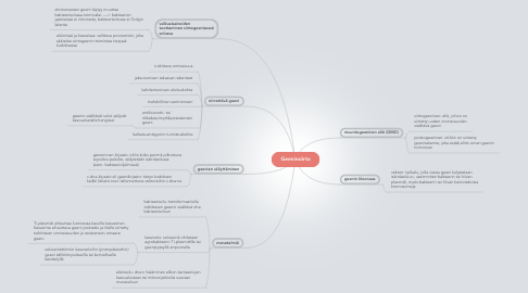 Mind Map: Geeninsiirto