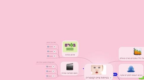 Mind Map: בטיחות ציינו קטגוריה