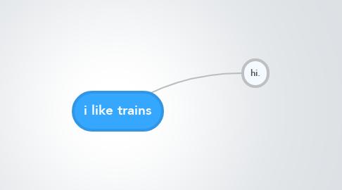 Mind Map: i like trains