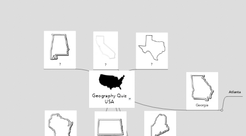 Mind Map: Geography Quiz USA