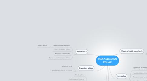 Mind Map: IRAKASLEARENROLAK