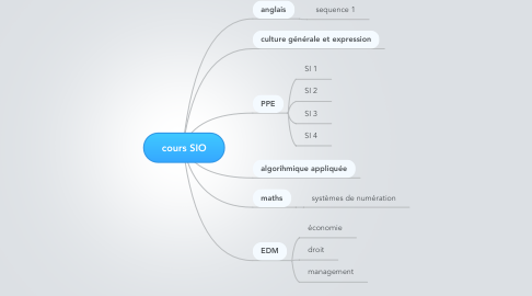 Mind Map: cours SIO