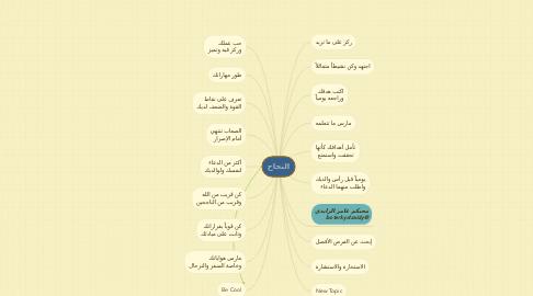 Mind Map: النجاح