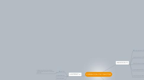 Mind Map: FORMACION PSICOMOTRIZ
