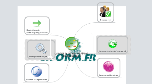 Mind Map: USAGES DU MIND MAPPING  EN ENTREPRISE