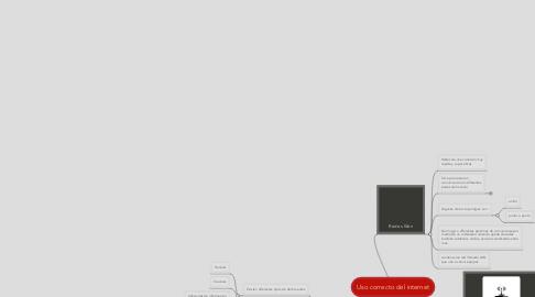 Mind Map: Uso correcto del internet