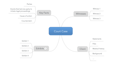 Mind Map: Court Case