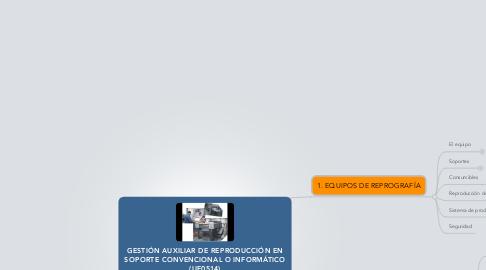 Mind Map: GESTIÓN AUXILIAR DE REPRODUCCIÓN EN SOPORTE CONVENCIONAL O INFORMÁTICO (UF0514)