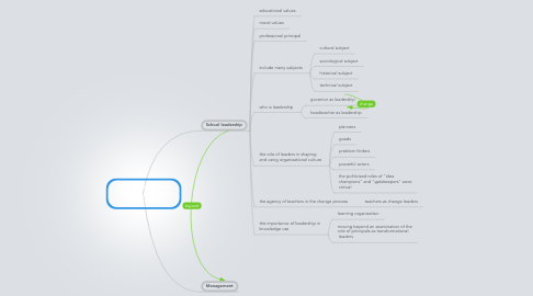 Mind Map: ICT  and educational leadership beyond management