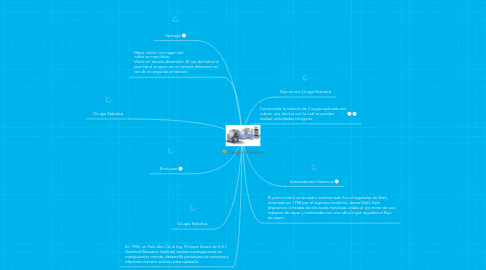 Mind Map: Cirugia Robotica