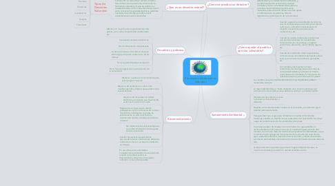 Mind Map: Prevención de desastres naturales