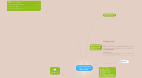 Mind Map: Teaching-Learning Critical Pathways & Collaborative Inquiry in a School.