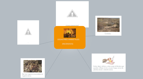 Mind Map: DESASTRES AMBIETALES           (INCENDIOS)