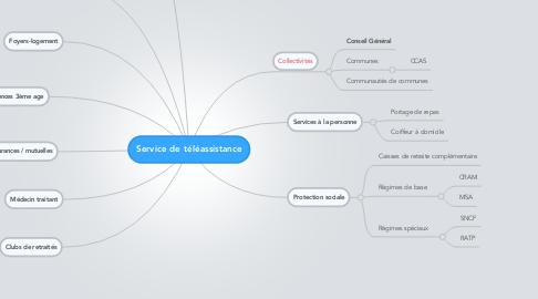 Mind Map: Service de téléassistance