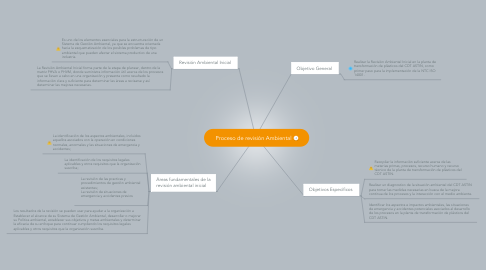 Mind Map: Proceso de revisión Ambiental
