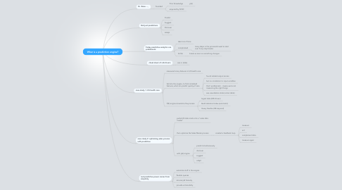 Mind Map: What is a prediction engine?