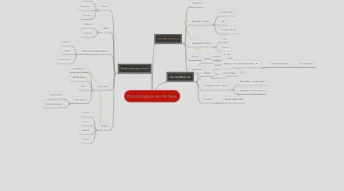 Mind Map: Boodschappen zijn de basis