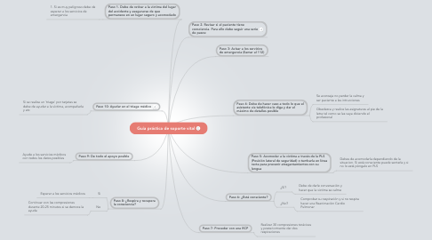 Mind Map: Guía práctica de soporte vital