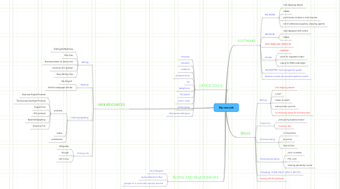 Mind Map: My new job