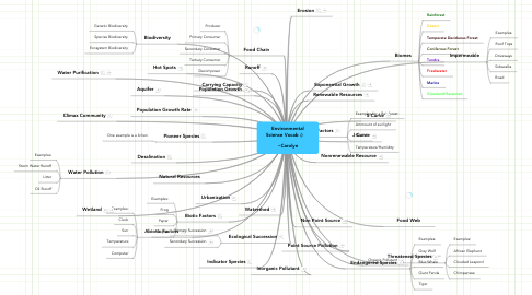 Mind Map: Environmental