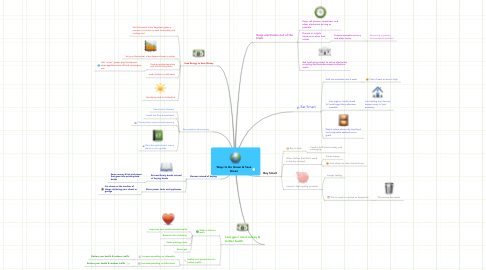 Mind Map: Ways to Go Green & Save Green