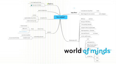 "Mind Map: ""Eco washball"""