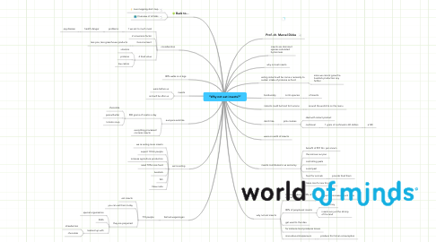 "Mind Map: ""Why not eat insects?"""