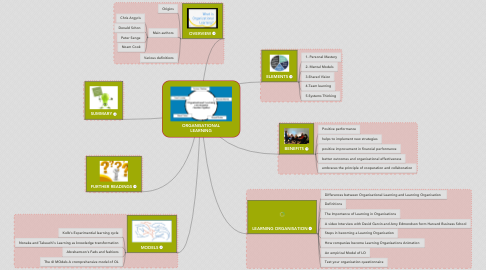 Mind Map: ORGANISATIONAL LEARNING