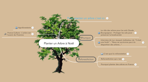 Mind Map: Planter un Arbre à Noël