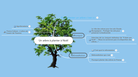 Mind Map: Un arbre à planter à Noël