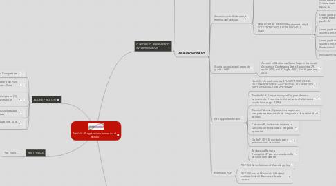 Mind Map: Modulo : Progettazione formativa di istituto