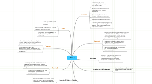 Mind Map: Tiimi 7