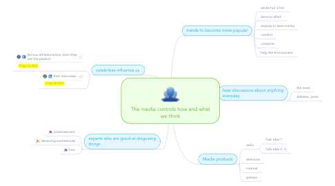 Mind Map: The media controls how and what we think