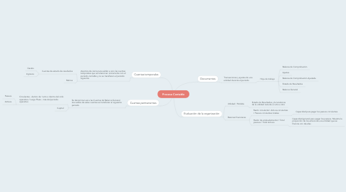 Mind Map: Proceso Contable
